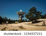a huge soviet radio telescope... | Shutterstock . vector #1156527211