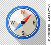 compass icon in flat style with ... | Shutterstock .eps vector #1156529407