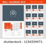 wall calendar planner template... | Shutterstock .eps vector #1156534471