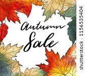 autumn background. hand drawn... | Shutterstock . vector #1156535404