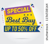 super sale  mega sale  sale... | Shutterstock .eps vector #1156538164
