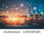 business logistics concept ... | Shutterstock . vector #1156539184