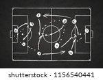 white chalk scheme of game... | Shutterstock .eps vector #1156540441