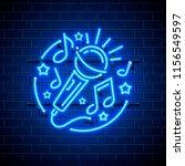 Neon Label Music Karaoke Banner....