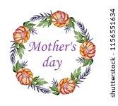 watercolor colorful bouquet... | Shutterstock . vector #1156551634