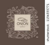 background with onion  rings ... | Shutterstock .eps vector #1156555771