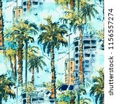 Seamless Pattern. Downtown With ...