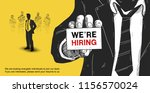 we are hiring poster concept... | Shutterstock .eps vector #1156570024