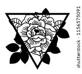 rose flower with sacred... | Shutterstock .eps vector #1156575091