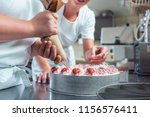 confectioner or pastry chefs... | Shutterstock . vector #1156576411