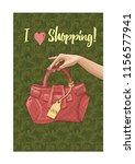 women's hand holding a... | Shutterstock .eps vector #1156577941