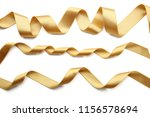 golden ribbons on white... | Shutterstock . vector #1156578694