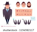 man character for scenes. parts ... | Shutterstock .eps vector #1156582117
