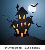 horror house | Shutterstock .eps vector #115658581