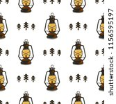 retro camp seamless pattern... | Shutterstock .eps vector #1156595197