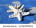 white sea stars | Shutterstock . vector #1156599001