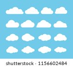 cartoon flat set of white... | Shutterstock .eps vector #1156602484