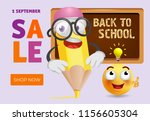 back to school  shop now... | Shutterstock .eps vector #1156605304