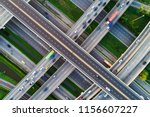 above city transport junction... | Shutterstock . vector #1156607227