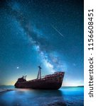 Ship Wreck In The Night In...