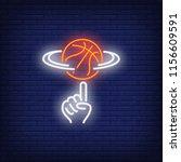 basketball spinning on finger... | Shutterstock .eps vector #1156609591
