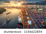 logistics and transportation of ... | Shutterstock . vector #1156622854