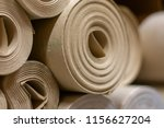 background from paper rolls.... | Shutterstock . vector #1156627204