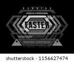 t shirt design sports running... | Shutterstock .eps vector #1156627474