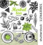 herbal tea shop set vector... | Shutterstock .eps vector #1156630801