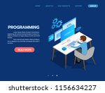 programming web development... | Shutterstock .eps vector #1156634227