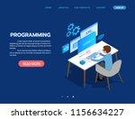programming web development... | Shutterstock .eps vector #1156634227