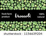 vector illustration of broccoli ... | Shutterstock .eps vector #1156639204