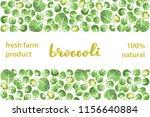 vector illustration of broccoli ... | Shutterstock .eps vector #1156640884