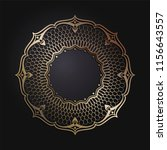 decorative round frame for... | Shutterstock .eps vector #1156643557