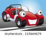 cartoon red kit car | Shutterstock .eps vector #115664674