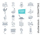 restaurant thin line icons ... | Shutterstock . vector #1156647361
