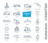 oil industry thin line icons ... | Shutterstock . vector #1156647364