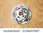 top view whipping cream with... | Shutterstock . vector #1156647607
