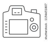 back camera thin line icon ...