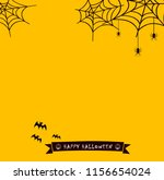 happy halloween text banner ... | Shutterstock . vector #1156654024