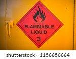 red whitten flammable liquid 3... | Shutterstock . vector #1156656664