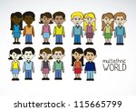 illustration of people of... | Shutterstock .eps vector #115665799