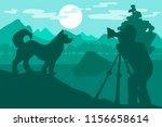 photographer photographs... | Shutterstock .eps vector #1156658614