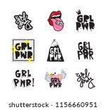 typography slogan with girl... | Shutterstock .eps vector #1156660951