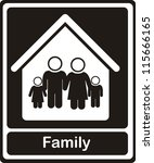 illustration of family icons on ... | Shutterstock .eps vector #115666165
