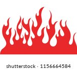 fire flame vector illustration... | Shutterstock .eps vector #1156664584