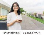 business asian women use... | Shutterstock . vector #1156667974