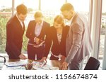 group of business people... | Shutterstock . vector #1156674874