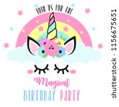 birthday invitation with cute... | Shutterstock .eps vector #1156675651