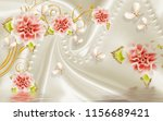 3d jade red flower background... | Shutterstock . vector #1156689421